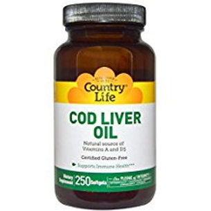 Country-Life,Cod Liver Oil (250-Softgel)