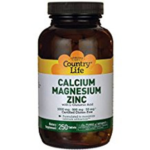 Country-Life,Calcium Magnesium Zinc with Vitamin D (250-Tablet)