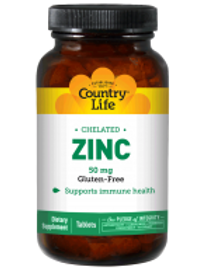 Country-Life,Chelated Zinc 50 mg