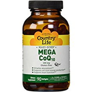 Country-Life, Mega CoEnzyme Q10 Q-Gel® 100 mg (90-Softgels)