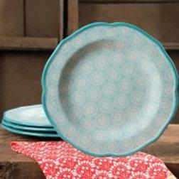 "The Pioneer Woman Hyacinth 10.5"" Dinner Plate Set, Set of 4"