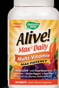 Nature's Way Alive! Max3 Daily Multi-Vitamin, Max Potency, 180 Tablets