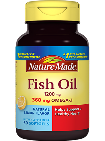 Fish Oil 1200 mg Lemon Essence Liquid Softgels