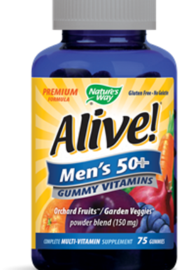 Natures Way Alive! - Mens 50+ Gummy Multi-Vitamins - 75 Chewables