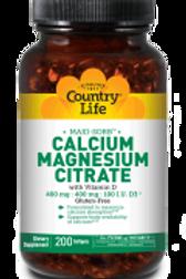 Country-Life,MAXI-SORB™ CALCIUM MAGNESIUM CITRATE with Vitamin D