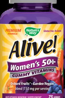 Nature's Way Alive Women's 50+ Gummy Multi-Vitamins Chewables, 75 Count