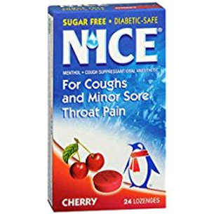 N'ice Lozenges Sugar Free Cherry - 24 lozenges  Nice
