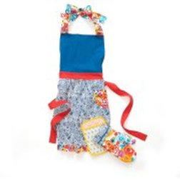 The Pioneer Woman Flea Market Kitchen Set, Apron/Oven Mitt/Pot Holder