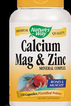Nature's Way Calcium,Magnesium,Zinc Capsules, 250-Count