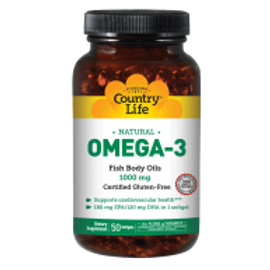Country-Life,Omega-3 1000 mg Fish Oil (50-Softgel)