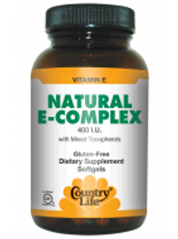 Country-Life, Natural Vitamin E Complex 400 I.U.(180-Softgel)