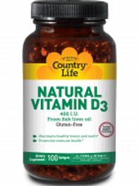 Country-Life, Natural Vitamin D3 400 I.U.