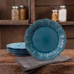 The Pioneer Woman Paige Transparent Glaze 4-Pack Salad Plates