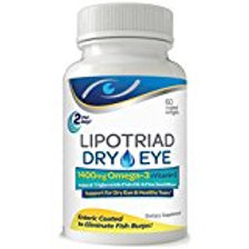 Lipotriad Dry Eye Formula - 1400mg Omega-3 Supplement – With Natural Triglycerid
