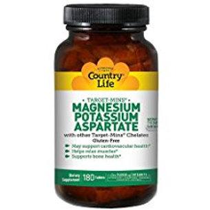 Country-Life,Magnesium - Potassium - Aspartate (180-Tablet)