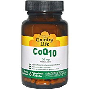 Country-Life,CoEnzyme Q10 – 30 mg (60-Vegetarian Capsules)