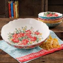 The Pioneer Woman Vintage Floral 5-Piece Pasta Bowl Set