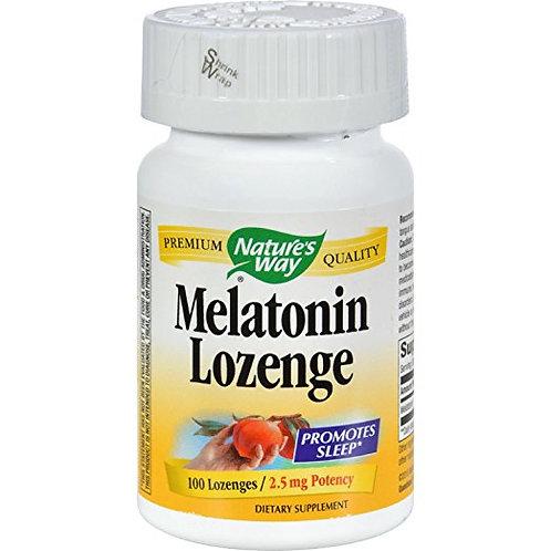 Natures Way Melatonin Lozenge Fruit - 2.5 mg - 100 Lozenges pack of -2