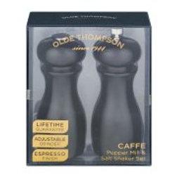 """Olde Thompson Espresso 6"""" Java Peppermill and Salt Shaker Set"""