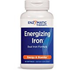 Enzymatic Therapy Energizing Iron Dual Iron Formula for Energy and Stamina, 90 S