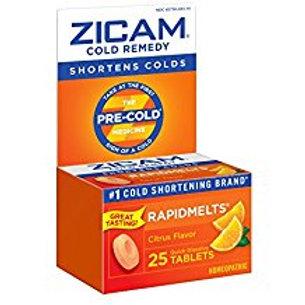 Zicam Cold Remedy Citrus RapidMelts, 25 Quick Dissolve Tablets