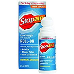 Stopain Extra Strength Pain Relief Roll-On, 3 Ounce  Stopain