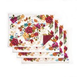 Pioneer Woman Timeless Floral Reversible Placemats, Pack of 4