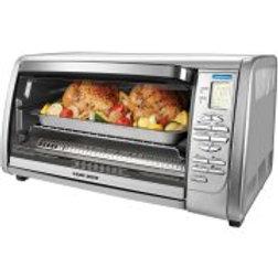 BLACK+DECKER 6-Slice Digital Convection Toaster Oven, Stainless Steel