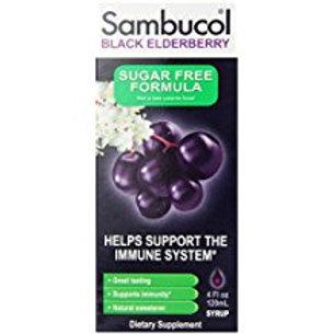 Sambucol Sugar Free Syrup, Black Elderberry, 4 Ounce