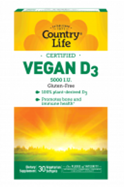 Country-Life, Vegan D3 (30-Softgel)