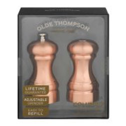 "Olde Thompson 4 1/2"" Columbia Copper Salt and Peppermill Set"