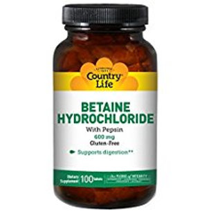 Country-Life,Betaine Hydrochloride (100-Tablet)