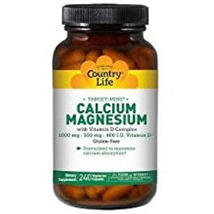 Country-Life,Calcium Magnesium with Vitamin D Complex (240-Vegicaps)