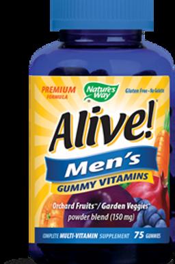 Nature's Way Alive! Men's Gummy Vitamins, 150mg, 75 Gummies