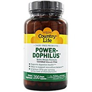 Country-Life,Dairy-Free Probiotic Power-Dophilus®(200-Vegicaps)