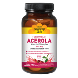 Country-Life, Chewable Acerola 500 mg