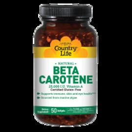 Country-Life, Natural Beta Carotene 25,000 I.U. Units