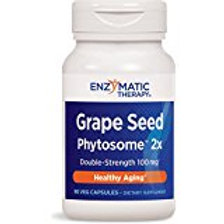 Enzymatic Therapy Grape Seed Phytosome 2X Vegetarian Capsule, 90 Count
