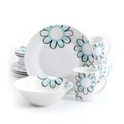 Gibson Home Lush Blossom 12pc Dinnerware Set