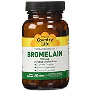 Country-Life,Triple Strength Bromelain (60-Tablet)
