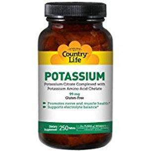 Country-Life,Potassium 99 mg (250-Tablet)