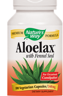 Nature's Way Aloelax with Fennel Seed - 100 Vegetarian Capsulesules