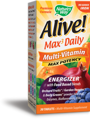 Nature's Way Alive! Max3 Daily (no iron added) 30 Tablets