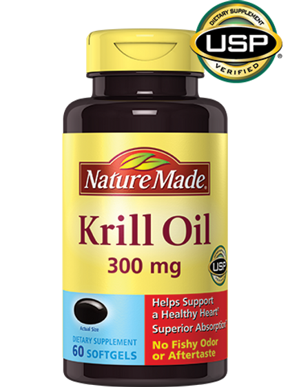 Krill Oil 300 mg Liquid Softgels