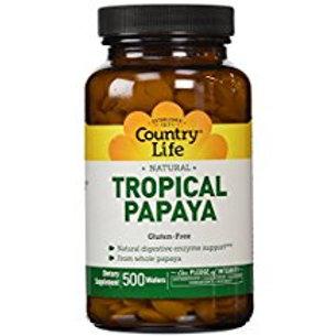 Country-Life,Natural Tropical Papaya (500-Tablet)