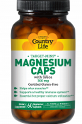 Country-Life,Magnesium with Silica 300 mg (60-Vegicaps)