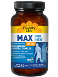 Country-Life,MAX FOR MEN® Iron Free (60-Tablet)