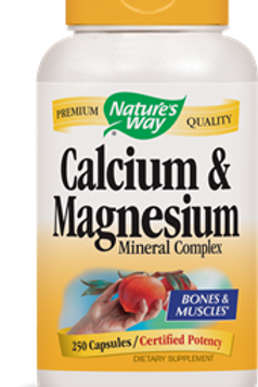 Nature's Way Calcium and Magnesium Mineral Complex, 250 Capsules