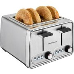 Hamilton Beach Modern Chrome 4 Slice Toaster