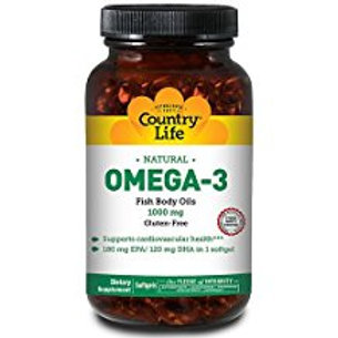 Country-Life, Omega-3 1000 mg Fish Oil (200-Softgel)